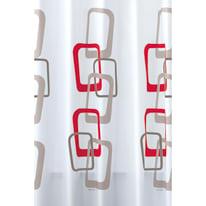 Tenda doccia Quadri 60 rossa L 180 x H 200 cm