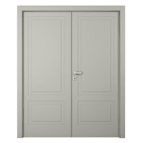 Porta da interno battente Nakano 2 Ante RAL 7044 140 x H 210 cm dx