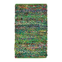 Tappeto Pizzicato verde, blu 150 x 220 cm
