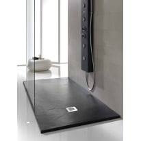 Piatto doccia poliuretano Soft 110 x 80 cm nero