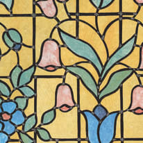 Pellicola adesiva per vetri vetrofania giallo 45 cm x 2 m