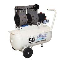 Compressore coassiale Fiac Supersilent 59dB, silenziato, 0.8 hp, pressione massima 8 bar