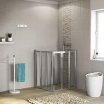 Porta doccia battente Los 76-78 x 76-78, H 190 cm cristallo 6 mm trasparente/cromo