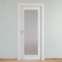 Porta da interno battente Pigalle palissandro bianco 70 x H 210 cm reversibile