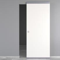 Porta da interno scorrevole Moma Easy binario nascosto bianco 91 x H 221 cm reversibile