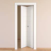 Porta da interno pieghevole Chamberì bianco 80 x H 210 cm dx