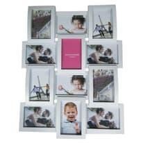 Portafoto multiplo Easy plastik bianco 12 foto