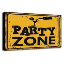 quadro su tela Party zone 24x35