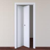 Porta da interno pieghevole Pearl bianco 80 x H 210 cm sx