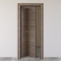 Porta da interno pieghevole Stylish grigio 80 x H 210 cm sx
