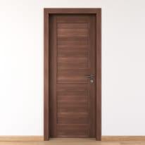 Porta per bed & breakfast battente Coventry noce 80 x H 210 cm sx