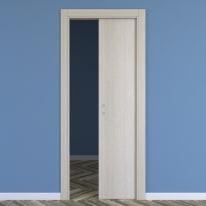 Porta da interno scorrevole One ash wood frassino 60 x H 210 cm reversibile