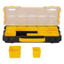 Organizer porta minuterie FMST1-75779, 14 comparti, colore nero/giallo