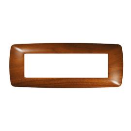 Placca 7 moduli FEB Flexì Brio legno scuro