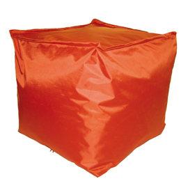 Cuscino pouf Idrorepellente arancione 45 x 45 cm