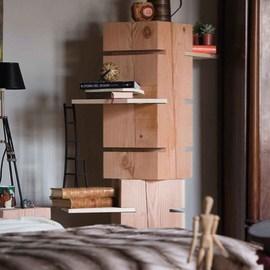 Tronco con fresature legno L 30 - 35 x P 30 x H 70 cm grezzo