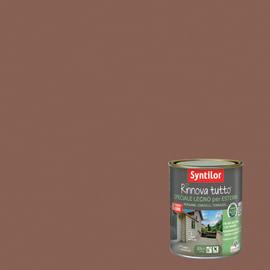 Vernice per esterno ad acqua Syntilor Rinnova Tutto marrone terracotta 0,75 L