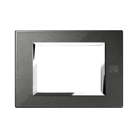 Placca 3 moduli Simon Urmet Nea Expì nero grafite