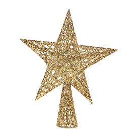 Puntale stella 5 punte oro 25 x 30 x 7,5 cm