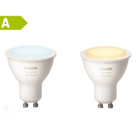 2 lampadine smart LED Philips Hue GU10 =25W luce CCT 220°