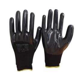 Guanti in nylon con spalmatura in nitrile Dexter Neri tg. 10/XL