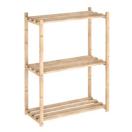 Scaffale legno 3 ripiani L 65 x P 30 x H 88 cm