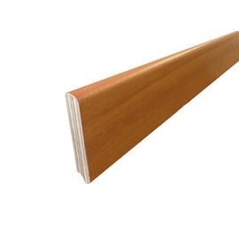 Battiscopa impiallacciato verniciato doussie 13 x 82 x 2400 mm