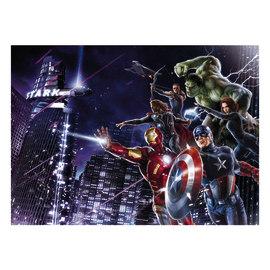 Fotomurale Avengers city multicolor 254 x 184 cm