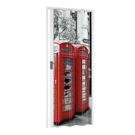 Porta a soffietto London fantasia L 89.5 x H 214 cm