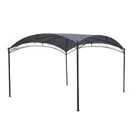 Gazebo Cupola copertura grigia 3 x 3 m
