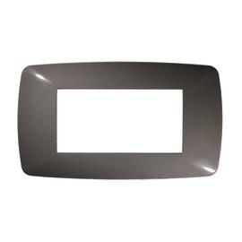 Placca 4 moduli FEB Flexì Brio grigio scuro