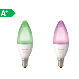 2 lampadine smart LED Philips Hue E14 =40W oliva multicolore (RGB) 220°