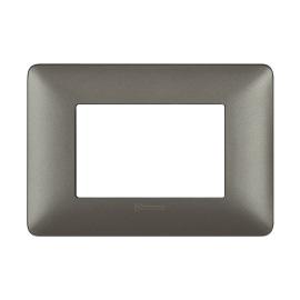 Placca 3 moduli BTicino Matix iron