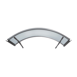 Pensilina in alluminio L 140 x P 90 cm