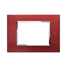 Placca 3 moduli Simon Urmet Nea Expì rosso
