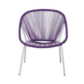 Poltrona impilabile Navia purple