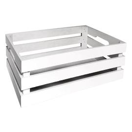 Cassetta bianca in legno 44x30 cm, H 15 cm
