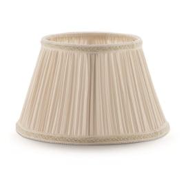 Paralume per lampada da comodino personalizzabile Impero plissè avorio