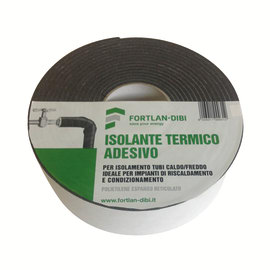 Rotolo fonoassorbente in polietilene termoisolante adesivo per tubazioni Fortlan L 5000 mm, spessore 3 mm