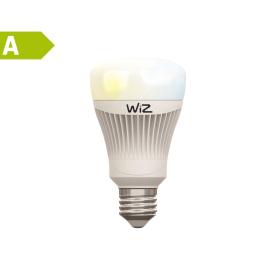 2 lampadine smart LED Wiz E27 =60W goccia luce CCT