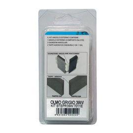 Angolare esterno in kit grigio 20 x 50 x 110 mm