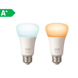 2 lampadine smart LED Philips Hue E27 =60W goccia luce CCT 220°