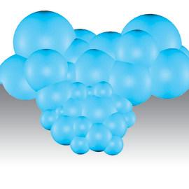 Poggiatesta Bubbles blu