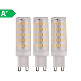 3 lampadine LED G9 =50W luce naturale 360°