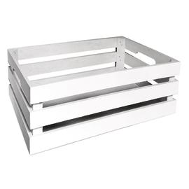 Cassetta bianca in legno 39x26 cm, H 14 cm