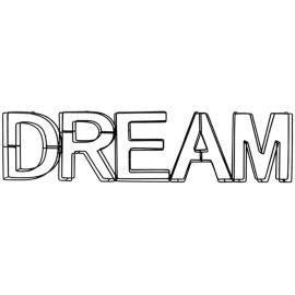 Scritta Dream 64x17