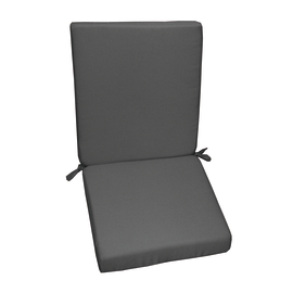 Cuscino schienale basso grigio 89 x 40 cm