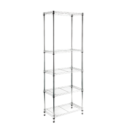 Scaffale in kit Spaceo Chrome Style+ L 60 x P 35 x H 180 cm