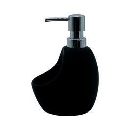 Porta sapone nero L 10 x P 12 x H 16,5 cm