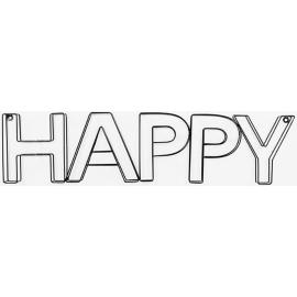 Scritta Happy 64x17